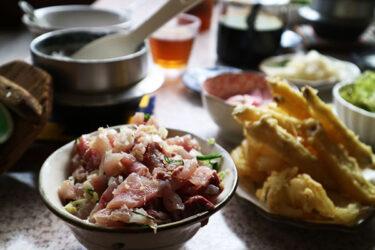地魚料理 さくら|松崎|コスパ最高!アジのたたき&まご茶漬け